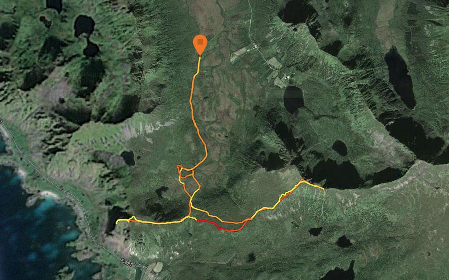 løberuten oppefra hadseløya