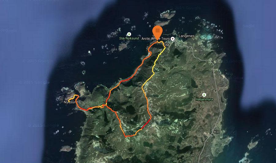 Dronningruta-trailløb-rute