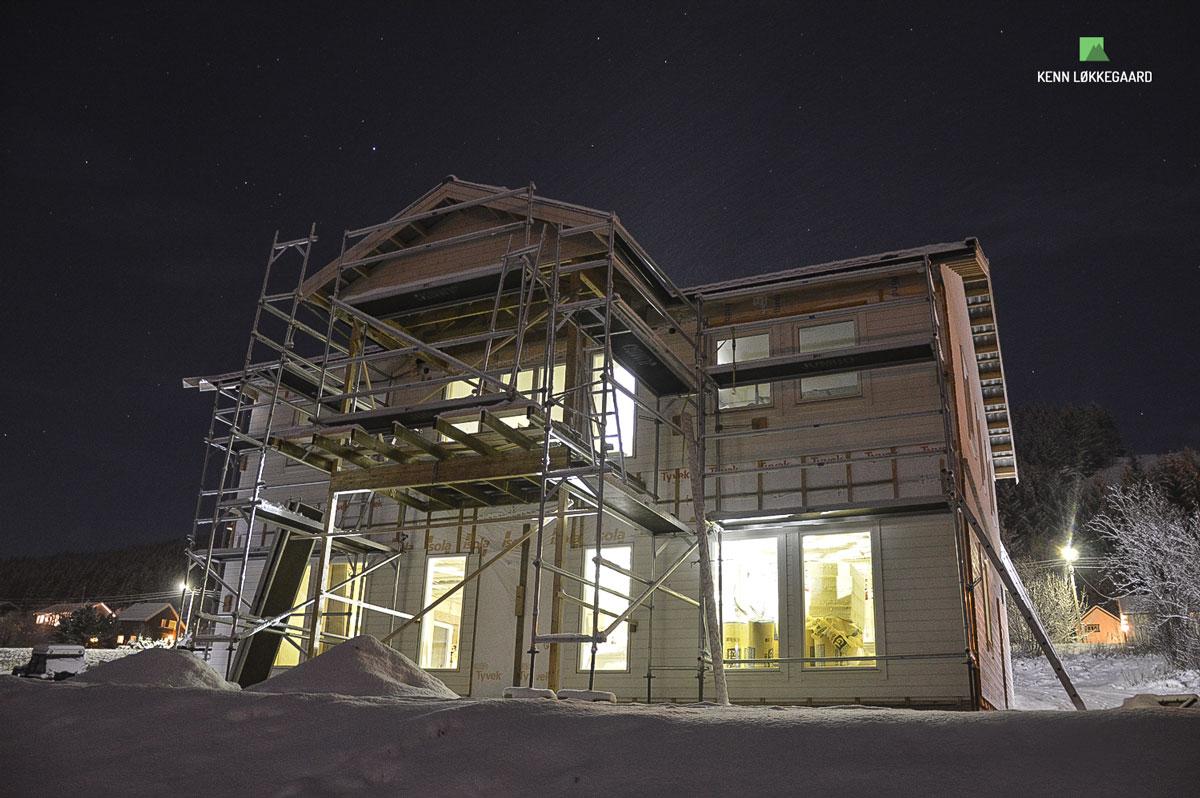 Bygger nyt hus på Sandnes
