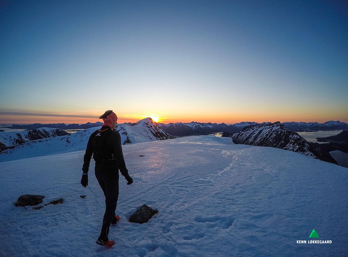 Storbåtsegga 638 moh. - solnedgang