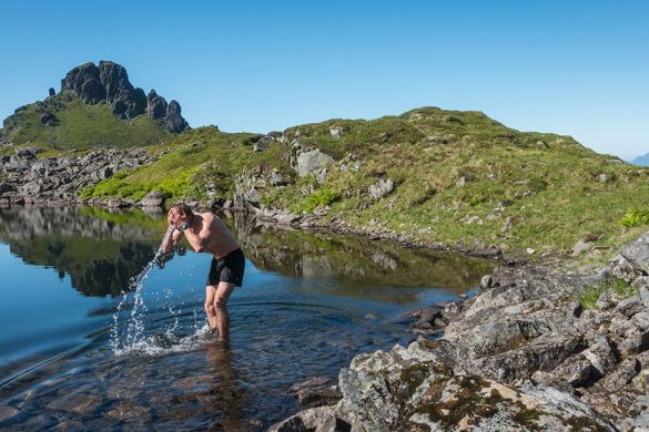 Cooling down in a lake 400 masl.