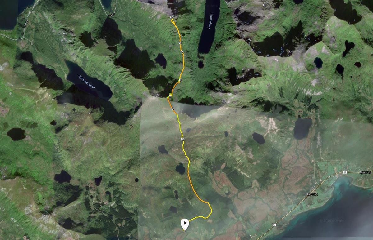 Slåttnesfjellet rute