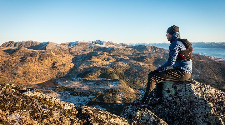Nyter en av de siste øyeblikke på fjellet før sesongen tar slutt.