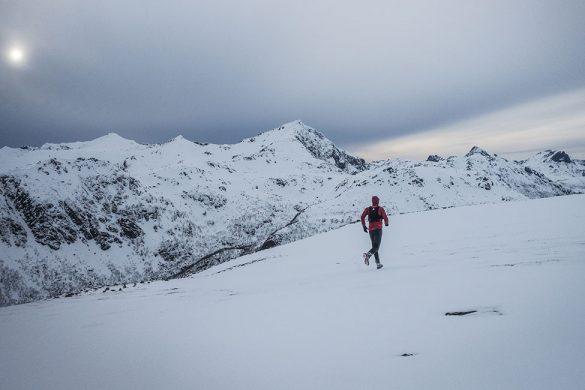 Løper på fjellet Risaksla.