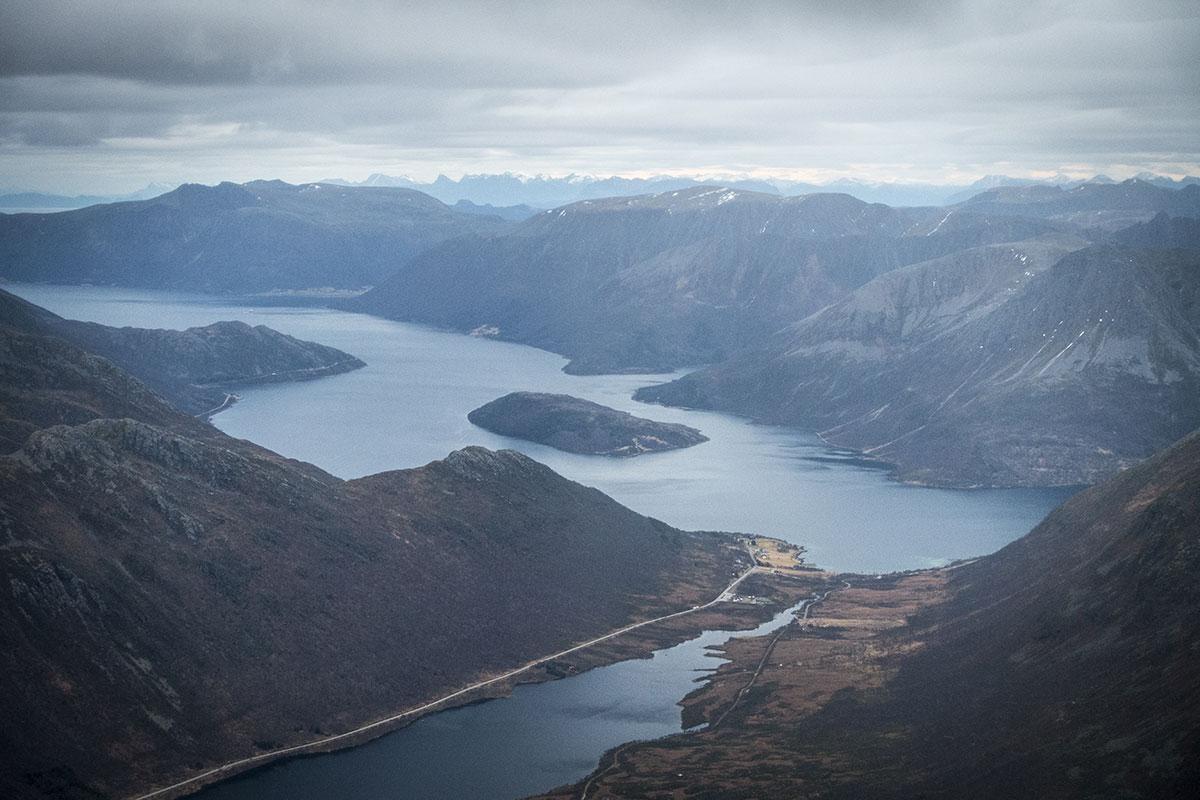 Gullesfjorden sett fra Stortinden